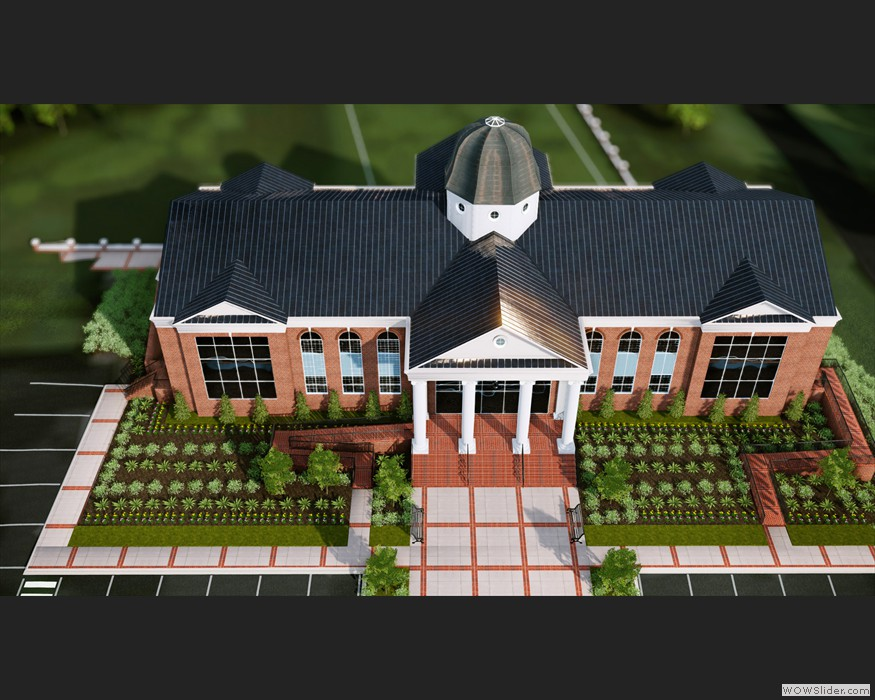 Liberty University Hancock Welcome Center rendered in CryEngine 3