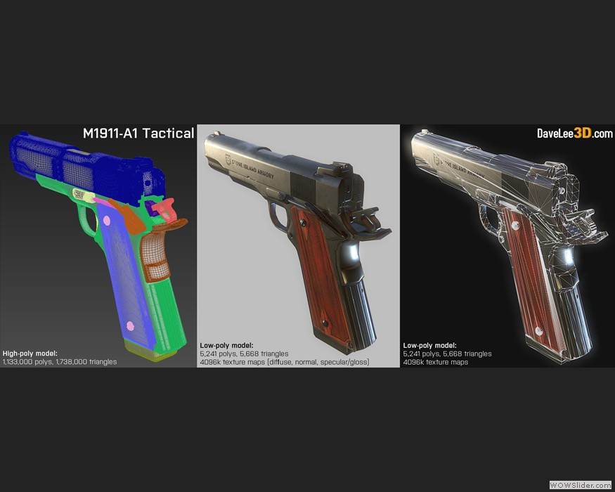 Game-ready M1911 A1 Pistol (02)